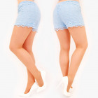 D1498 Lace Women Shorts, Pastel Colors