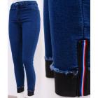 B16750 Jeans, pantalons slim, pour femmes, à rayur