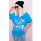 4498 Cotton Women Blouse, Gold Print Love Me More