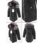 E31 Winter Womens Jacket, Drawstring, Faux Fur, Bl