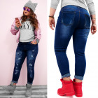 B16789 Trendy Woemn Plus Size Jeans, Lots of Holes