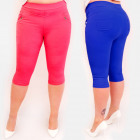 C17623 Women's 3/4 trousers, Plus Size, Colors