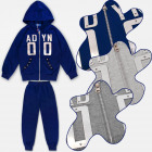 A19132 Sporty Tracksuit for Boy, Gym Set, 4-12