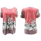Women Blouse Shirt, Plus Size, Floral Print L-4XL,