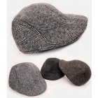 A1259 Mens Cap, Winter Hat, Pattern in Herringbone