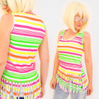 4631 Neon Women Shirt, Summer Straps, Tassels