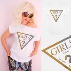 A883 Cotton T-Shirt , Top, Brocade Girls, White
