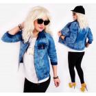 BI703 Women Jeans Jacket, Ramones, Spring Look