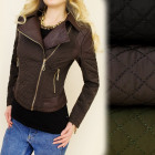 A28147 SPRING JACKET, EFFECT COLLAR