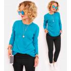 M01 Clasiic Sweater with Wool, Elegant Loose Tunic