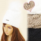 C17437 Winter Fleece Hat, Cap, Furry Pompon