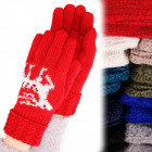4208 Warm, woolen gloves, reindeer and jets