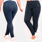 C17628 Pantaloni eleganti Plus Size, cursori dorat