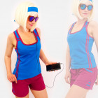 4577 Sporty Women Shirt + Shorts, Summer Set