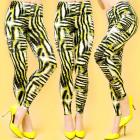 4324 Pants, Ladies Leggings, Zebra Pattern