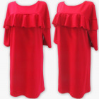 D4075 Dress, Made In Poland, 48-54, Coral