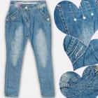 A19209 Pantalons jeans pour filles, 8-16 ans