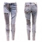 Jeans pour femmes, 34-42, marbrures légères, B1688