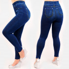 4504 Leggings Jeans, Stitching, Plus Size, Bamboo