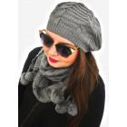 A1251 Ensemble de femmes casquette + écharpe, styl