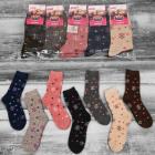 4315 Woolen Ladies Socks, Snowflakes, 35-42