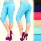 Pantalon femme, longueur 1/2, couleurs, M-6XL, 547