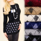 C17362 Hairy Tunic, Sweater, Cute Romby