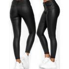 Women's Push-Up Pants, Matte Latex 34-42, B169