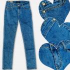 A19196 Jeans Filles Jeans, avec motif, 6-14