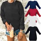 Baumwoll-Damen-Sweatshirt, Farben S-XL, N094