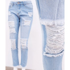B16761 Women Jeans, Trendy Holes & jerking