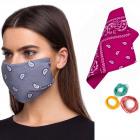 Gesichtsschal, Kopftuch, handgemachte Maske