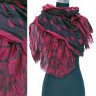 Weicher Schal, breiter Schal, Punktmuster, A1294