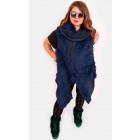EM15 Fur Womn jacket, vest, poncho, navy blue