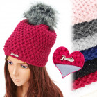 FL655 Fleece hat, Glossy Look, Big Pompon