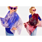 A1235 Extensive scarf, shawl, colorful leopard