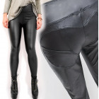 Trousers, Black Latex, Push - Up Effect S - L, 527