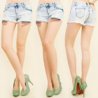 B16499 WOMEN SHORTS, JEANS, HOLES