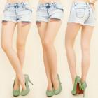 B16499 Damen Shorts, Jeans, LOCH