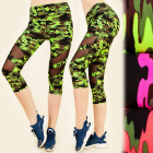 FL485 Leggings Fitness, Jogging, Camo pattern, 3/4