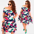 C17700 Robe asymétrique pour femmes, imprimé Clora