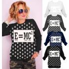 N041 Baumwollfrauen Sweatshirt, Energie Coffe