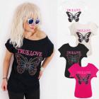 K614 Chemise en coton pour femmes, Top, True Love