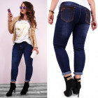 B16651 Womens Jeans, Plus Size, Belt and Jets