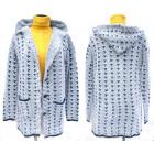 Women Fluffy Cardigan & Hood, winter, M-2XL, 5137