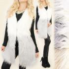 C17244 Beautiful Vest, Ombre Fur, Warm Waistcoat