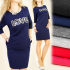 BI207 CLASSIC DRESS, TUNIC, sequins, LOVE