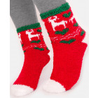 SOF19 Fur Terry Socks, Reindeer 35-38