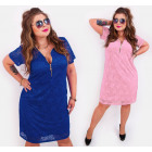 BI737 Lace Dress with Slider, Plus Size