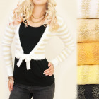 C17219 Sweater, Cardigan, Bolero, Gold Thread